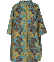 gianluca capannolo monica trench coat brocade