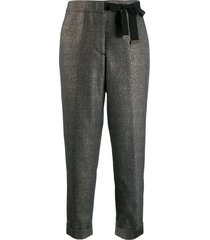 peserico bow detail trousers - black