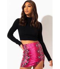 akira come hither snake mini skirt