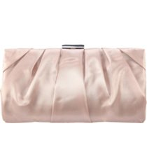 nina shiny pleated frame clutch