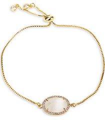 luxe opal & crystal slider bracelet