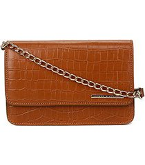bolsa clutch courojorge bischoff new croco basic feminina
