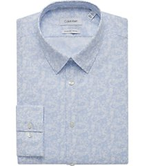 calvin klein blue frost extreme slim fit dress shirt