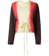 ambush tie-dye lace-up front sweatshirt - multicolour