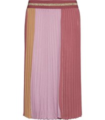 plissé sport skirt knälång kjol rosa mos mosh