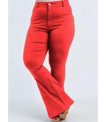 pantalón rojo circe oxford