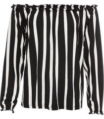maglia a righe con spalle scoperte (nero) - bodyflirt