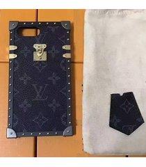 *black aluminum eye trunk bag style case apple iphone6/6s iphone7 iphone8 plus