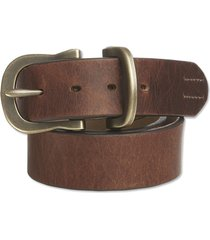 saddle-leather jeans belt, brown, 46