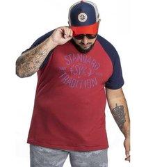 camiseta svk plus size tradition masculina - masculino