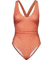joy baddräkt badkläder orange camilla pihl