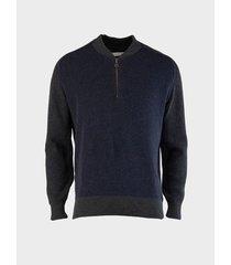 suéter cuello semiredondo acanalado para hombre 13482