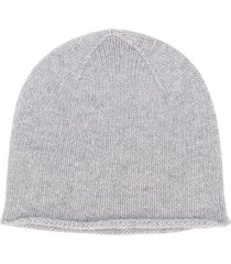 pringle of scotland fine knit beanie - grey