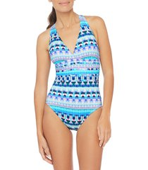women's la blanca global cross back one-piece swimsuit