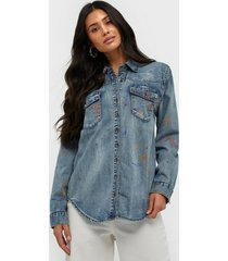 one teaspoon new vintage denim shirt skjortor