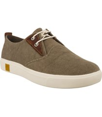 zapatos hombre amherst plain toe canvas oxford timberland-café