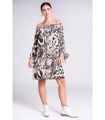 vestido corto estampado animal print