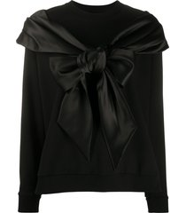 simone rocha bow detail sweatshirt - black