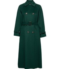 potente trenchcoat lange jas groen weekend max mara