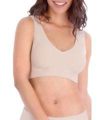 women's belly bandit v-neck anti bra, size small - beige