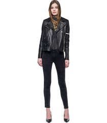 chaqueta para mujer crust leather replay