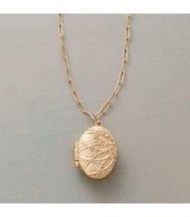 diamond dusted lotus locket