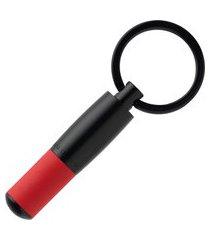 chaveiro hugo boss gear matrix preto e vermelho hak007p
