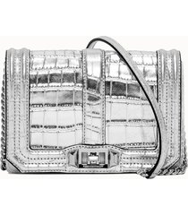 rebecca minkoff borsa a tacolla di colore argento