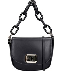red valentino shoulder bag in black leather