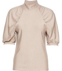 rifagz ss turtleneck blouses short-sleeved roze gestuz