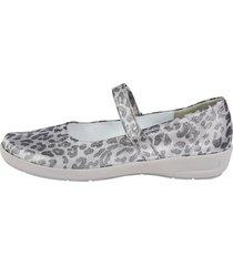 skor med kardborreband naturläufer silverfärgad