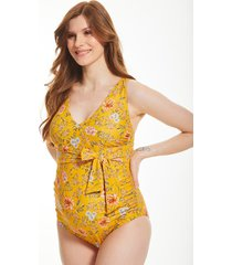 briony mindful maternity non-wired wrap tie one-piece swimsuit