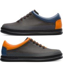 camper twins, sneaker uomo, grigio/arancione/blu, misura 46 (eu), k100631-002