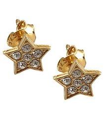 kolczyki pozłacane gwiazdki z kryształkami