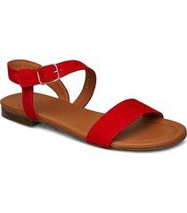 sandals 8714 shoes summer shoes flat sandals röd billi bi