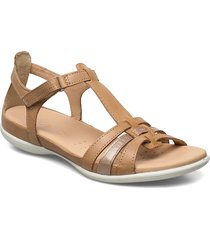 flash shoes summer shoes flat sandals beige ecco