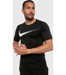 camiseta negro-blanco nike ss slim top gfx