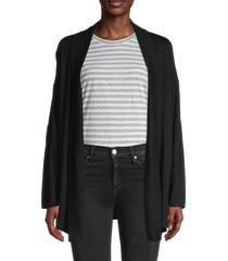 supply & demand women's open front cardigan - black - size m
