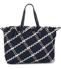 havana basket weave tote