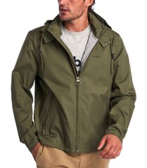 barbour men's linfield hooded rain jacket