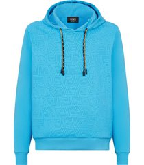 x sarah coleman rubber print fisheye ff logo hoodie