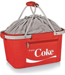 oniva by picnic time coca-cola red metro basket collapsible tote