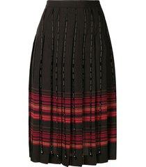 marco de vincenzo plaid pleated skirt - black