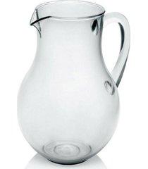 jarra belly vitra 2,2 litros natural acrãlico - ou - incolor - dafiti