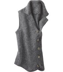walkstof gilet, antraciet s