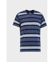 camiseta de rayas cuello v para hombre 04222