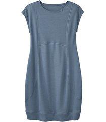 jersey jurk, rookblauw 44