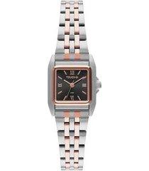 relógio touch unissex fino bicolor twvj21ah/3p twvj21ah/3p