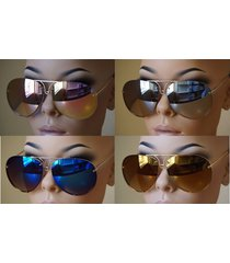 aviator super poshe mirror twirl metal design frames women sunglasses