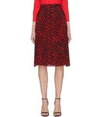'sula' leopard print silk skirt